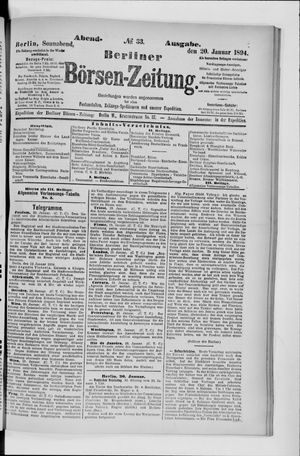 Berliner Börsen-Zeitung vom 20.01.1894