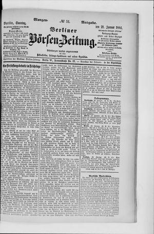 Berliner Börsen-Zeitung vom 21.01.1894