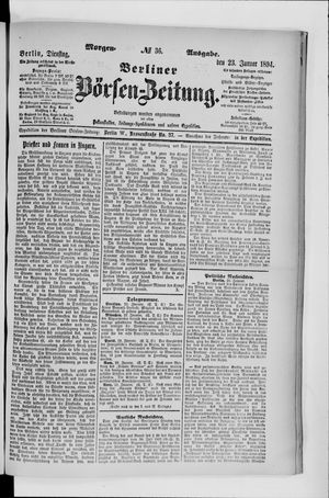 Berliner Börsen-Zeitung vom 23.01.1894
