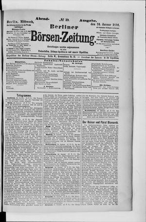Berliner Börsen-Zeitung vom 24.01.1894