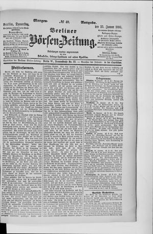 Berliner Börsen-Zeitung vom 25.01.1894
