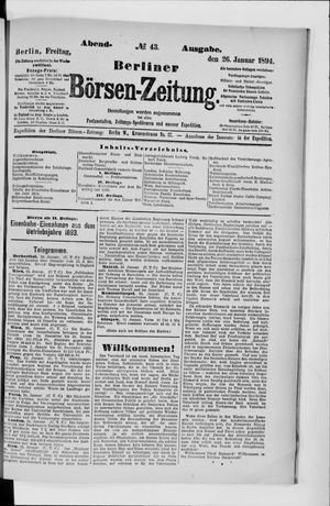 Berliner Börsen-Zeitung vom 26.01.1894