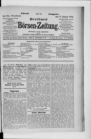 Berliner Börsen-Zeitung vom 27.01.1894