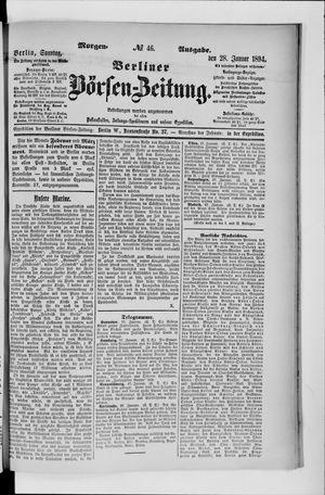 Berliner Börsen-Zeitung vom 28.01.1894