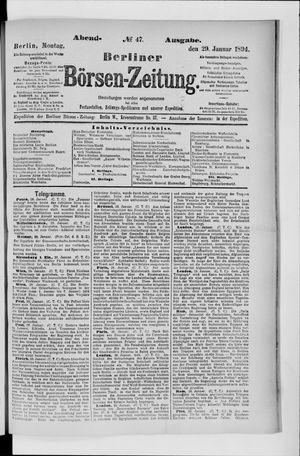 Berliner Börsen-Zeitung vom 29.01.1894