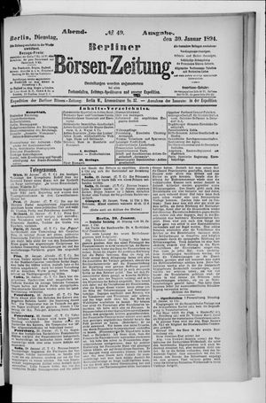 Berliner Börsen-Zeitung vom 30.01.1894