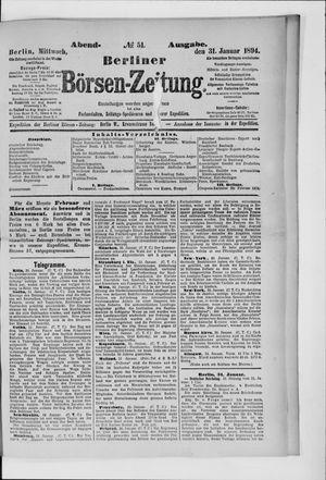 Berliner Börsen-Zeitung vom 31.01.1894