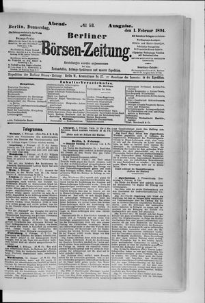 Berliner Börsen-Zeitung vom 01.02.1894