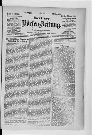 Berliner Börsen-Zeitung vom 02.02.1894