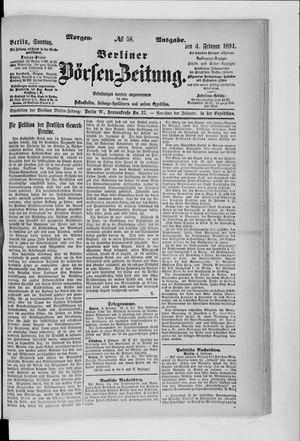 Berliner Börsen-Zeitung vom 04.02.1894