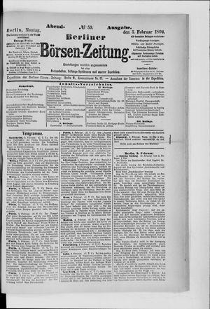 Berliner Börsen-Zeitung vom 05.02.1894