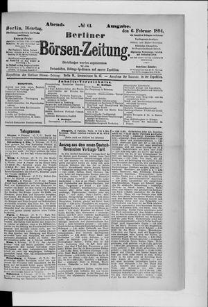 Berliner Börsen-Zeitung vom 06.02.1894