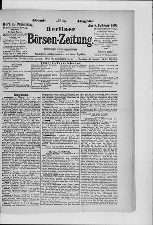 Berliner Börsen-Zeitung vom 08.02.1894