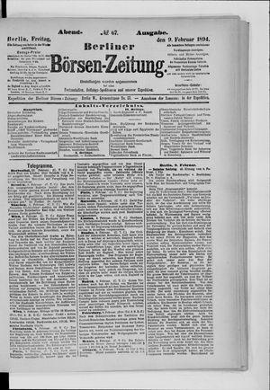Berliner Börsen-Zeitung vom 09.02.1894