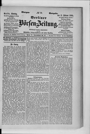 Berliner Börsen-Zeitung vom 11.02.1894