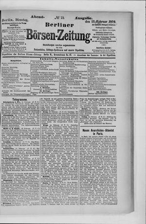 Berliner Börsen-Zeitung vom 13.02.1894