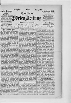Berliner Börsen-Zeitung vom 15.02.1894