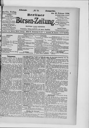 Berliner Börsen-Zeitung vom 16.02.1894