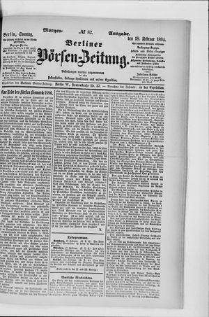 Berliner Börsen-Zeitung vom 18.02.1894