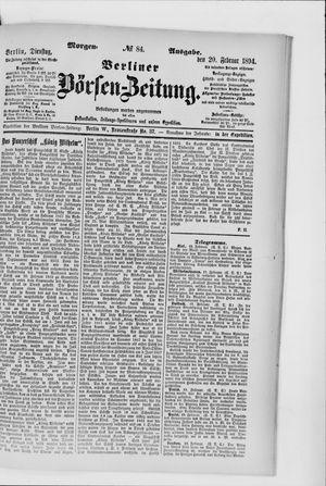 Berliner Börsen-Zeitung vom 20.02.1894