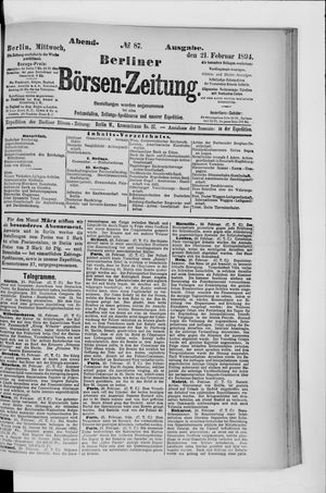 Berliner Börsen-Zeitung vom 21.02.1894