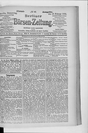 Berliner Börsen-Zeitung vom 22.02.1894