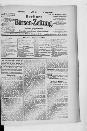 Berliner Börsen-Zeitung vom 23.02.1894