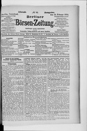 Berliner Börsen-Zeitung vom 24.02.1894