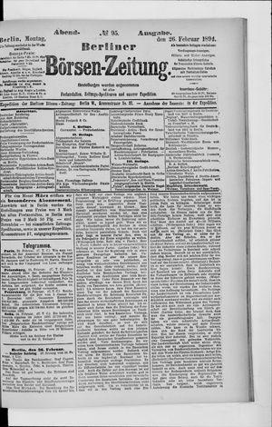 Berliner Börsen-Zeitung vom 26.02.1894