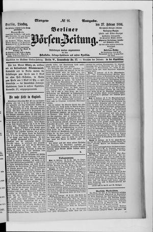 Berliner Börsen-Zeitung vom 27.02.1894