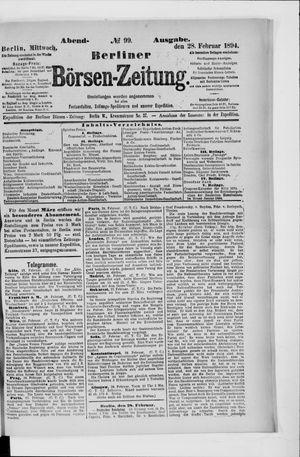 Berliner Börsen-Zeitung vom 28.02.1894