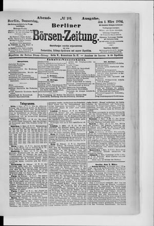 Berliner Börsen-Zeitung vom 01.03.1894