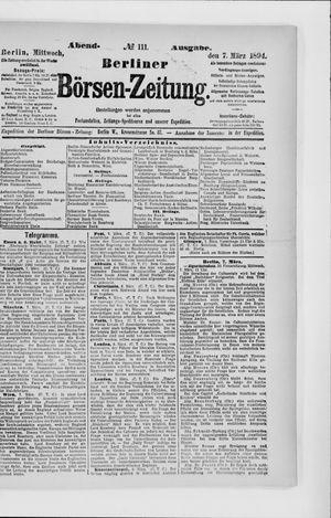 Berliner Börsen-Zeitung vom 07.03.1894