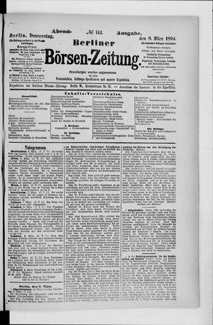 Berliner Börsen-Zeitung vom 08.03.1894