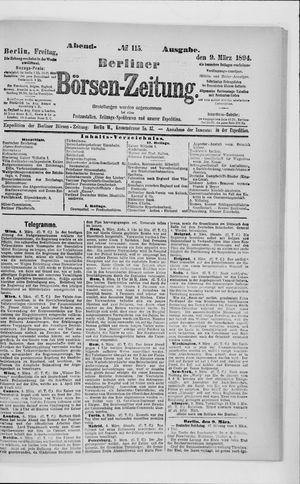 Berliner Börsen-Zeitung vom 09.03.1894