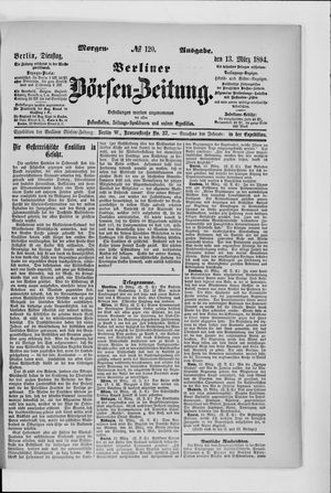 Berliner Börsen-Zeitung vom 13.03.1894