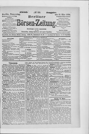 Berliner Börsen-Zeitung on Mar 15, 1894