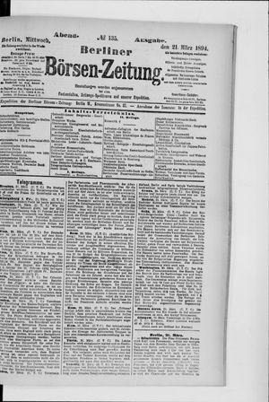 Berliner Börsen-Zeitung vom 21.03.1894