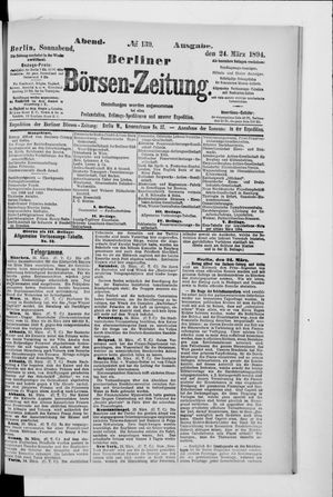 Berliner Börsen-Zeitung vom 24.03.1894