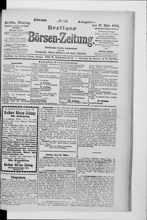 Berliner Börsen-Zeitung vom 27.03.1894