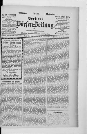 Berliner Börsen-Zeitung vom 29.03.1894