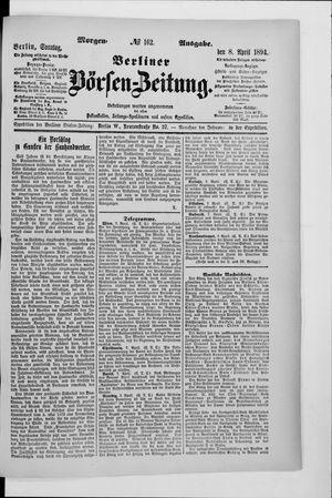 Berliner Börsen-Zeitung vom 08.04.1894