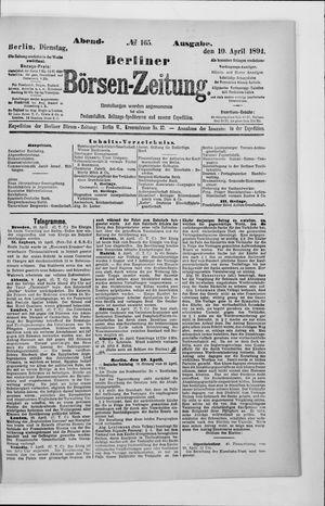 Berliner Börsen-Zeitung vom 10.04.1894