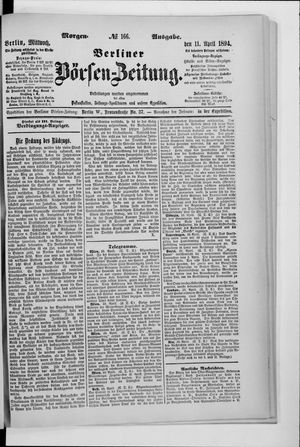 Berliner Börsen-Zeitung vom 11.04.1894