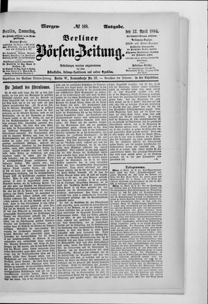 Berliner Börsen-Zeitung vom 12.04.1894
