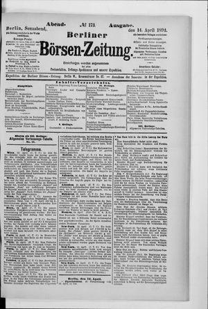Berliner Börsen-Zeitung vom 14.04.1894