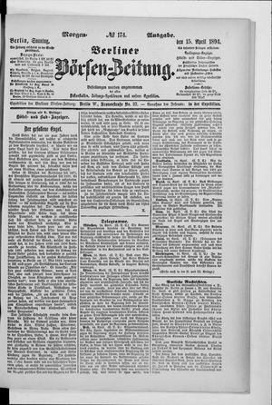Berliner Börsen-Zeitung vom 15.04.1894