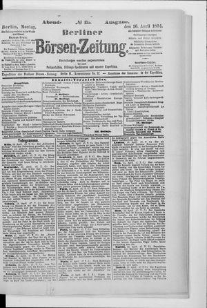 Berliner Börsen-Zeitung vom 16.04.1894