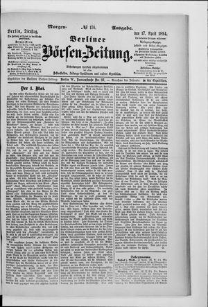 Berliner Börsen-Zeitung vom 17.04.1894
