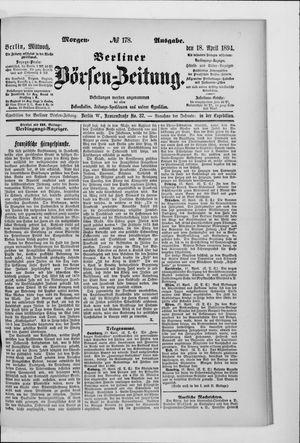 Berliner Börsen-Zeitung vom 18.04.1894